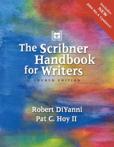 Scribner Handbook for Writers, The (4th Edition)