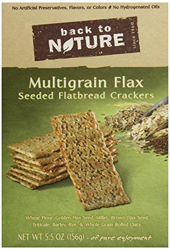 (Back to Nature Non-GMO Crackers, Multigrain Flax Seeded Flatbread, 5.5 Ounce)