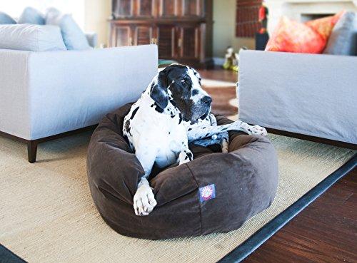 "Majestic Pet Extra-Large 52"" Bagel Dog Pet Bed MicroSuede -"