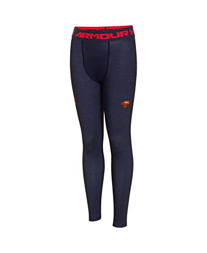 c428f652445772 Under Armour Boys' Alter Ego Superman Fitted Leggings Youth X-Large  Midnight Navy
