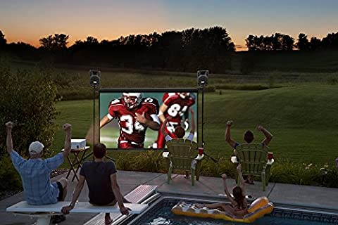 Backyard Theater Systems SilverScreen Series, 9' SilverScreen, Optoma 720p HD Projector, 2 Savi 8