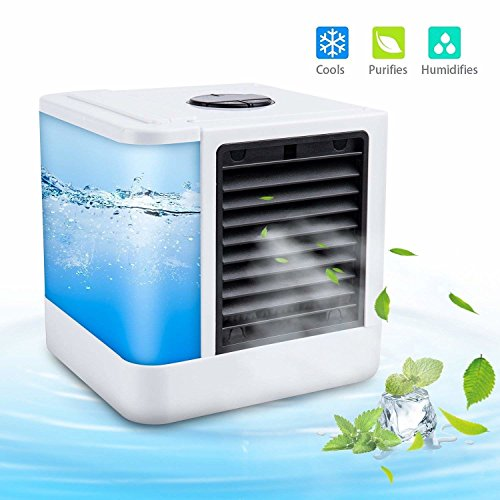 Specialized Air Portable USB Air Conditioning With 3 Speeds & & Colours LED Lights For HOme, Office, Travel, Outdoors by Specialized Air