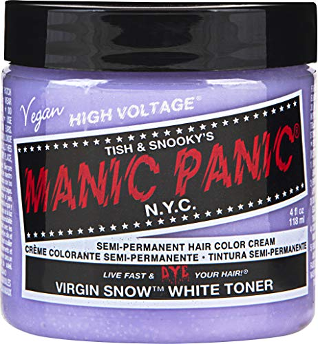 Manic Panic Virgin Snow Hair Toner - Blonde Toner (Best Toner For Yellow Bleached Hair)