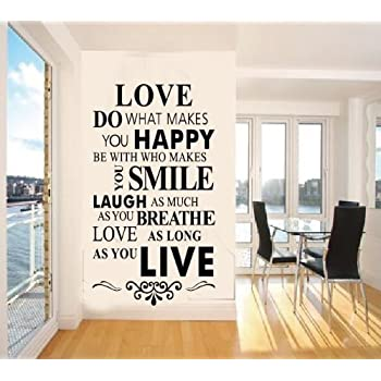 Bedroom Quotes For Walls | Amazon Com Vinyl Wall Decals Quotes Inspirational Love Quotes Wall