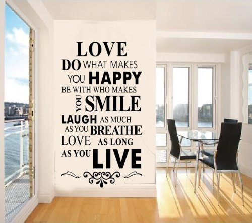 designyours Vinyl Wall Decals Quotes Inspirational Love Quotes Wall Stickers for Bedroom Teen Girls Rooms Christmas Decorations