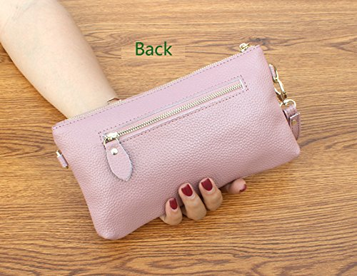 Purse Leather Wristlet Gray Crossbody Small ZOONAI Bag Handbag Shoulder Girls Women Wa8nn0UB