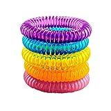 Iusun Mosquito Repellent Wristbands, 5PCS Mosquito Repellent Bracelets Natural Repellent Anti-Mosquito Wristbands (Multicolor)