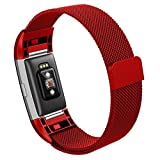Fitbit Charge 2 Band,Hanlesi Replacement Metal Stainless Steel Bracelet Fitness Wristband for Fitbit Charge2