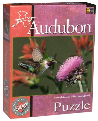 Audubon Collectible Puzzle - Broad-tailed Hummingbird