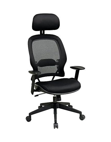 Superieur OSP55403   Space Air Grid Series High Back Chair W/Headrest
