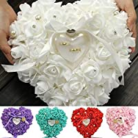 ATFJHBG Romantic Single-Layer Rose Wedding Heart Shaped Gift Ring Box Pillow LUN Your Satisfaction is Our Greatest…