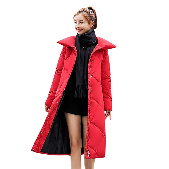 Amazon.com: Women Coat Godathe Women Outerwear Loose Button Coat Long Cotton-Padded Jackets Pocket Coats M-XXXL: Clothing