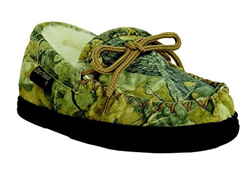 (Old Friend Camouflage Loafer Kids Toddler-Youth Slipper 2 M US Little Kid Chestnut)