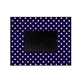 CafePress - Navy Blue Polka Dot D1 - Decorative 8x10 Picture Frame