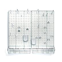 Azar Displays 900945-CLR Pegboard Room Organizer, Clear Frosted Pegboard