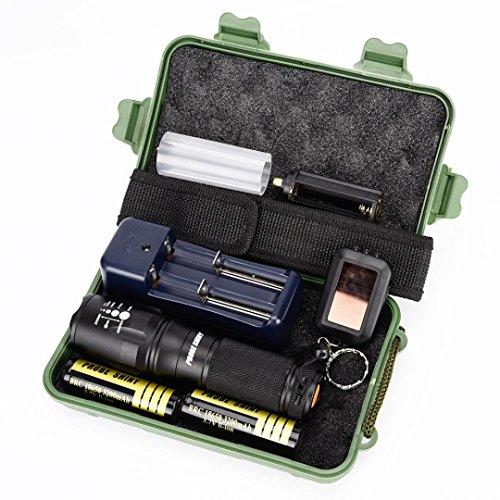 UPLOTER G700 X800 LED Zoom Military Grade Tactical Flashlight Battery Hand Lamp