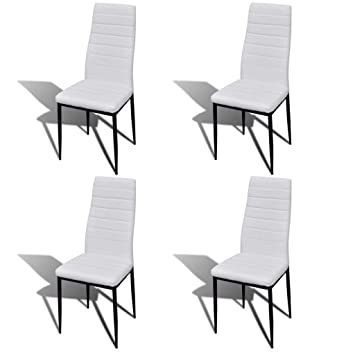 Brilliant Amazon Com Set Of 4 Slim Line Dining Chairs Artificial Gmtry Best Dining Table And Chair Ideas Images Gmtryco