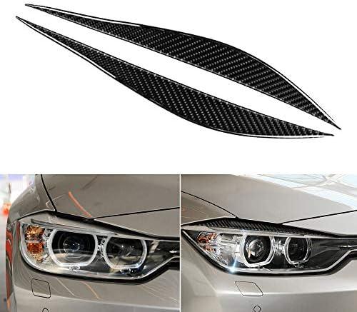 Carrfan Front Scheinwerfer Augenbrauen Dekorativ Cover Sticker Kohlefaser Für Bmw F30 F31 F32 F33 F34 2012 2020 Auto
