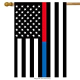 Cheap Briarwood Lane Thin Blue & Red Line House Flag Police Firefighter 28″ x 50″