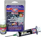 Uniweld P4KD9S Aluminum Soft Solder Kit with Metal Tip Flux Applicator