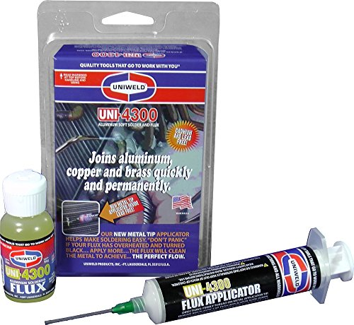 Uniweld P4KD9S Aluminum Soft Solder Kit with Metal Tip Flux Applicator by Uniweld