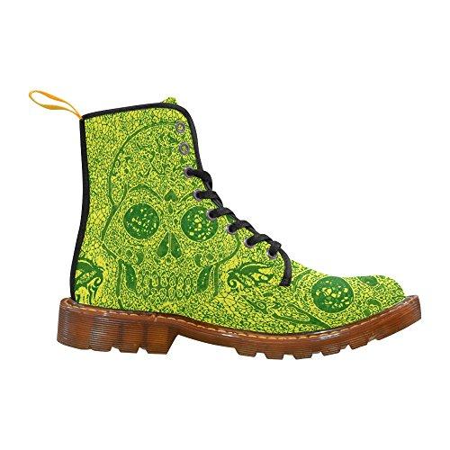 Leinterest Mosaik Skallen Gul Grön Martin Stövlar Mode Skor För Kvinnor