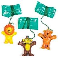 Baker Ross Mini Jungle Animal Parachutes Juguete (Paquete