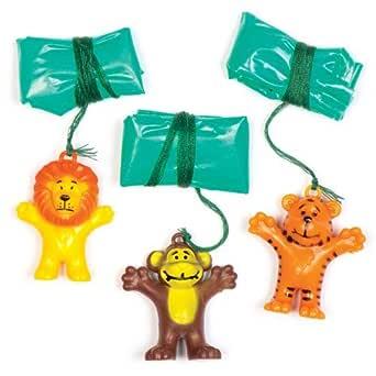 Baker Ross- Paracaídas de Animales para niños (Pack de 8