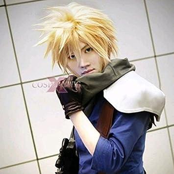 amazon com smile nwt anime cloud strife short blonde cosplay wig