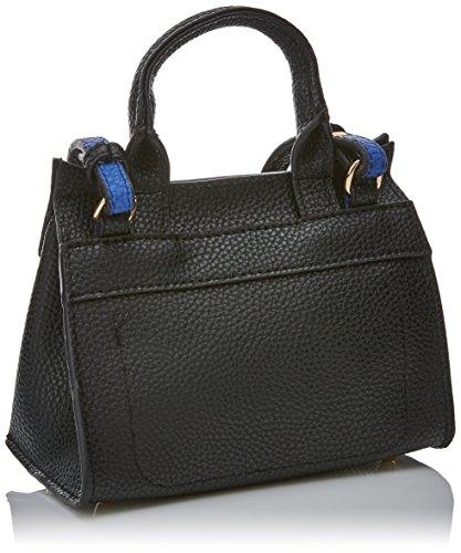 Lola Casademunt Claudia, Bolso Baguette para Mujer, Negro (Black), 9.5x14x18.5 cm (W x H x L)