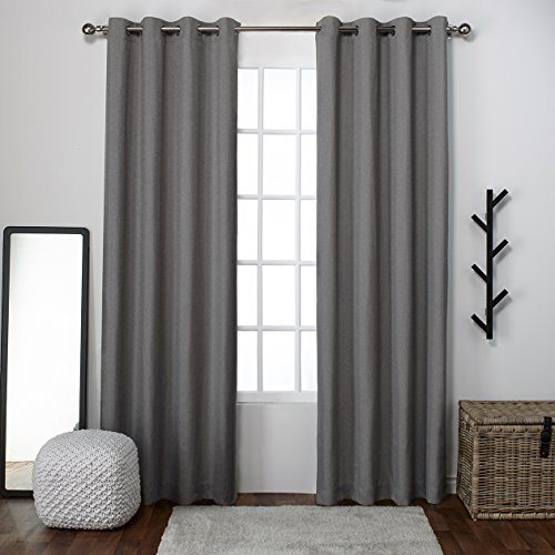 Exclusive Home Loha Linen Window Curtain Panel Pair with Gro