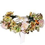 ACTLATI Women Floral Flower Wreath Headband Boho Sweet Wedding Party Hair Garland Yellow
