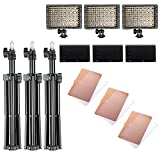 Neewer Photography 3 x 160 LED Studio Lighting Kit, includes (3) CN-160 Dimmable Ultra High Power Panel Digital Camera DSLR Camcorder LED Video Light +(3)32''/80cm Tall Studio Light Stand