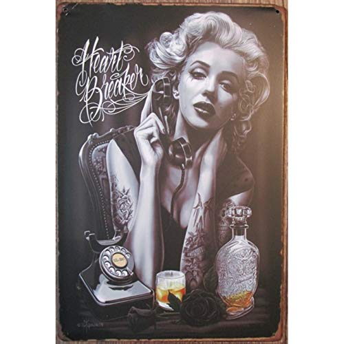 hotrodspirit – Placa de Tatuaje Marilyn Monroe y Botella de ...