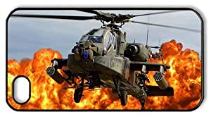 Hipster for cheap iPhone 4 case ah 64d apache army helicopter PC Black for Apple iPhone 4/4S