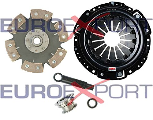 Competition Clutch Disc and Pressure Plate Kit for Honda H22 Prelude 2.0L 2.1L Ceramic 6 Puck Rigid/Solid Stage 4 ()