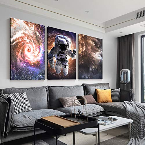 """SIGNFORD 3 Panel Canvas Wall Art Cosmic Storm Child Canvas Painting Wall Decor for Living Room Framed Home Decorations - 24""""x36"""" x 3 Panels"""