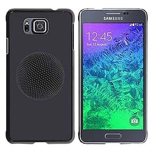 Paccase / SLIM PC / Aliminium Casa Carcasa Funda Case Cover para - Planet - Samsung GALAXY ALPHA G850