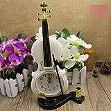 OOFAY Colorful Desktop Plastic Needle Alarm Clock Violin clock Mini Quartz , a
