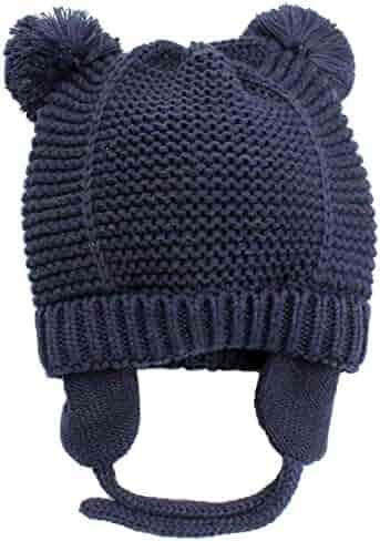 244bed6a7e0 BAVST Baby Boys Girls Knit Hats Earflap Infant Winter Caps Cute Zebra  Toddler Cotton Beanies Cute ...