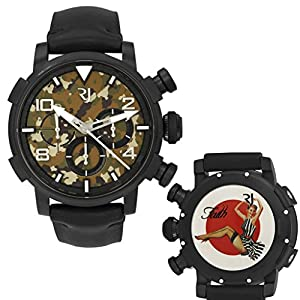Romain Jerome Pinup DNA WWII Faith Stripes Chrono Auto Men Watch RJ.P.CH.002.01