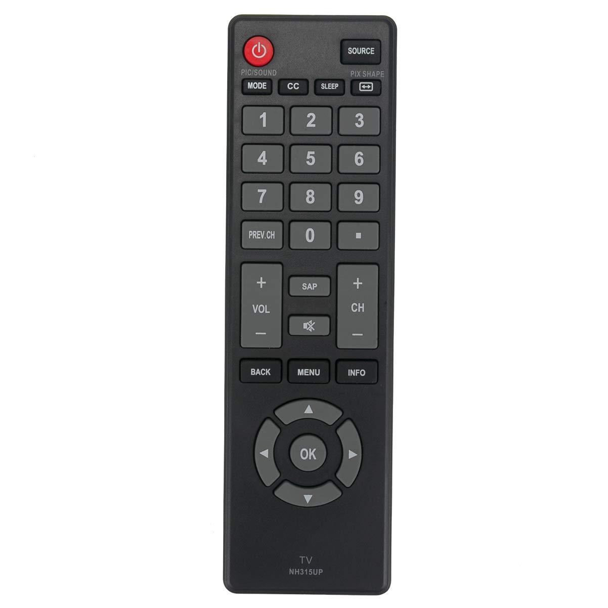 NH315UP リモートコントロール交換用 サンヨー LCD LED TV FW50D36F FW40D36F FW43D25F FW55D25F FW55D25F-B   B07MV14QCW