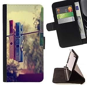 Momo Phone Case / Flip Funda de Cuero Case Cover - Pinza Hipster - Samsung Galaxy S6 EDGE