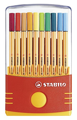 4 x Stabilo Point 88 Pen Sets Color Parade Adjustable, Set of 20 by Stabilo
