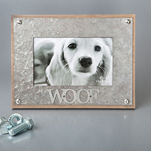 10 Industrial Style Metal Frame 4 x 6 - WOOF by Fashioncraft