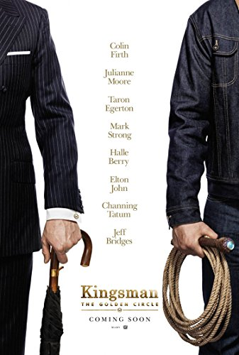 Kingsman The Golden Circle Movie Poster 2 Sided Original Advance Taron Egerton