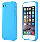 iPhone 7 Case, IPX-6 Water Resistant [360 All Round Protective] Ultra Slim Thin Light Shockproof Dust/Snow Proof Case Cover with Built-in Screen Protector for Apple iPhone 7 4.7 inch (Light blue)