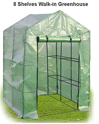 Quality Greehouse - Greenhouse for Home - Portable 8 Shelves Mini Greehoouse - New Walk In Greehouse - Grow in Garden - Display Pots Tray - Outdoor Indoor Backyard Stand