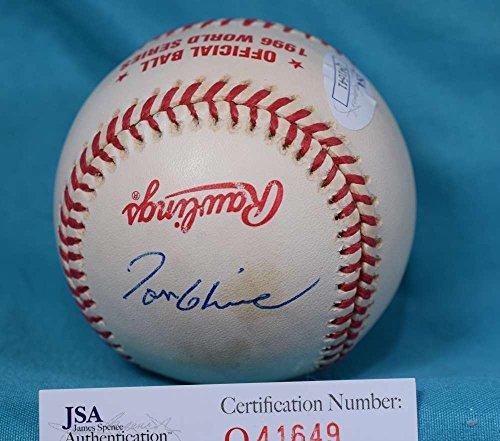 TOM GLAVINE JSA COA HAND SIGNeD 1996 WORLD SERIES AUTOGRAPH BASEBALL