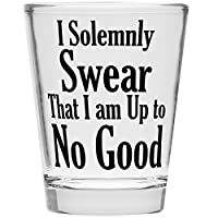 Shot Glass - I Solemnly Swear I Am Up To No Good - Inspired by Harry Potter